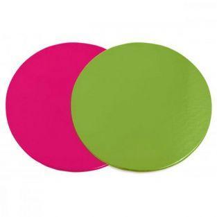 Discos para pasteles - rosa y verde