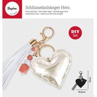 DIY Heart keychain kit