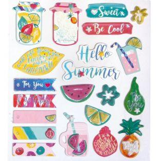 3D stickers x 21 - Sweet summer
