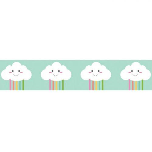 Masking tape 10 m x 1.5 cm - Happy clouds