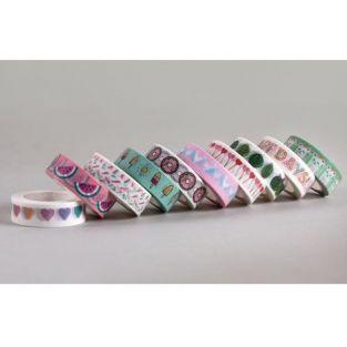 Masking tape 10 m x 1.5 cm - Happy Days