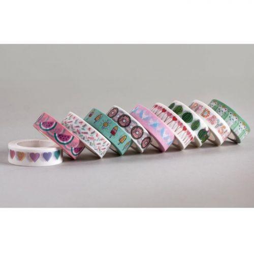 Masking tape 10 m x 1,5 cm - Donuts rose