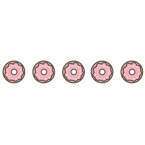 Washi tape de 10 m x 1,5 cm - Rosquillas rosa