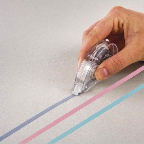 3 rollers correcteurs colorés - gris clair, rose, menthe