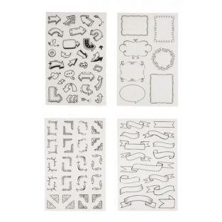 Stickers bulles et flèches pour Bullet Journal