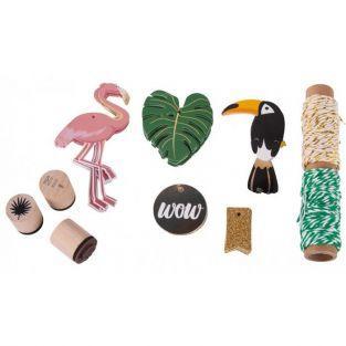 Kit décoration de cadeau - Tropical
