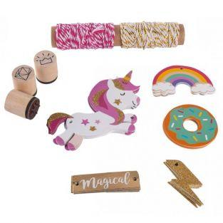 Kit decoración de regalo - Unicornio