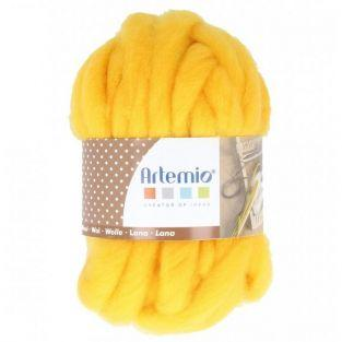 Bola de lana gruesa 10 m - 70 g - ocre amarillo
