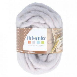 Bola de lana gruesa 10 m - 70 g - gris claro