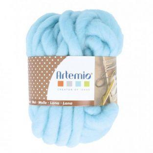 Bola de lana gruesa 10 m - 70 g - azul cielo