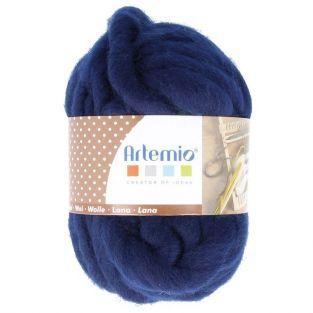 Pelote de laine épaisse 10 m - 70 g - bleu nuit