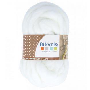 Pelote de laine épaisse 10 m - 70 g - blanc