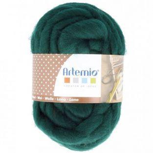 Bola de lana gruesa 10 m - 70 g - verde oscuro