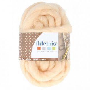 Pelote de laine épaisse 10 m - 70 g - vieux rose