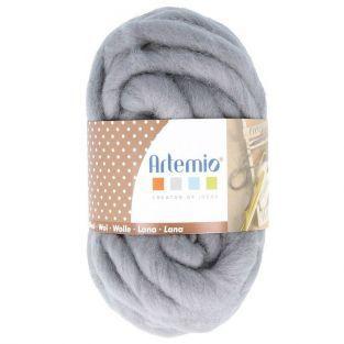 Pelote de laine épaisse 10 m - 70 g - gris souris