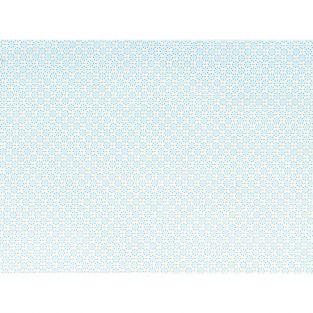 Cotton fabric 55 x 45 cm - light blue circles
