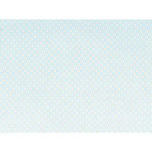 Coupon de tissu 55 x 45 cm - Ronds bleu clair à pointillés bleus
