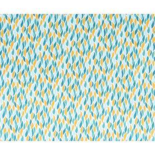 Cotton fabric 55 x 45 cm - orange and blue flames