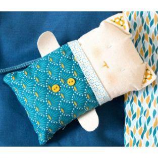 Cotton fabric 55 x 45 cm - blue flowers