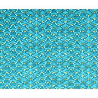 Coupon de tissu 55 x 45 cm - Fleurs bleues