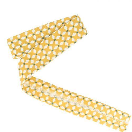 Biais de couture 3 m x 20 mm - Croix jaunes