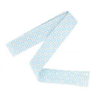 Biais de couture 3 m x 20 mm - Ronds bleu clair à pointillés bleus