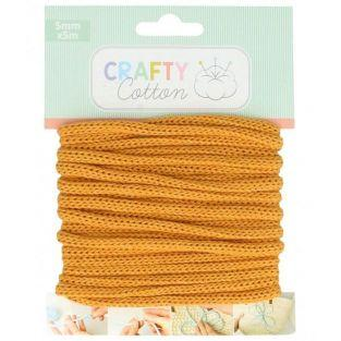 Knitting Yarn 5 mm x 5 m - ocher