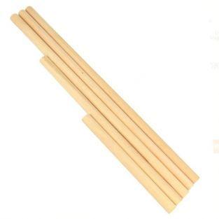 5 bâtons en bois pour Macramé
