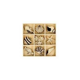 Siluetas de madera Sirena