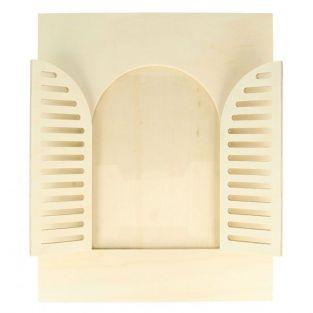 Wood picture frame 22 x 27 cm - Rounded window