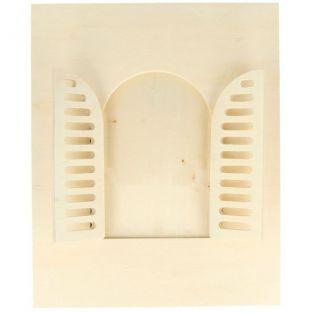 Marco de madera 18 x 22 cm - Ventana redondeada