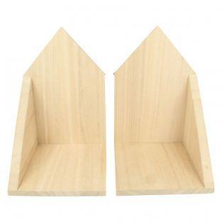 2 étagères en bois coins 14,7 x 22 x 16 cm