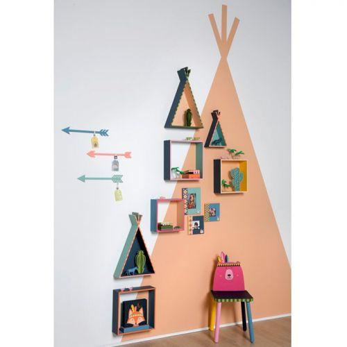 2 wooden shelves Tipi - 45 & 26 cm