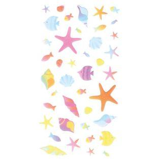 3D Puffies Stickers - Mermaids & Shells