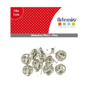 10 Pin's butterfly fastener clasp