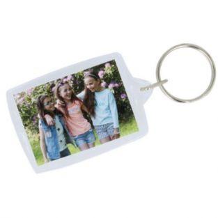 4 porte-clés photos 3 x 4,5 cm