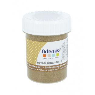 Embossing powder 40 ml - Fine golden