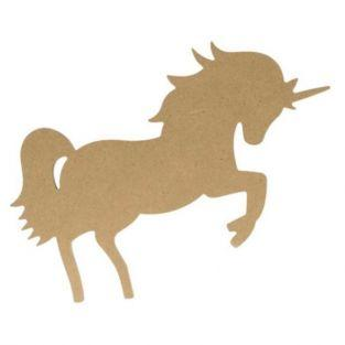 Silueta de madera mdf Unicornio - 15 cm
