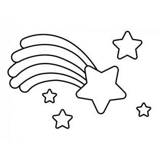 Wooden stamp Shooting star 3.6 x 2.6 cm