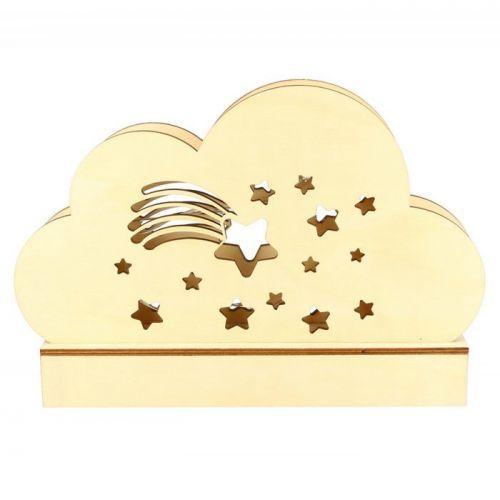 Wooden cloud DIY Lamp 25 x 13.7 cm