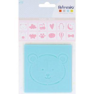 12 plastic stencils Adorable 9 x 9 cm