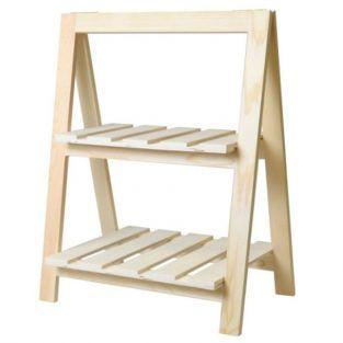 Etagère en bois 2 niveaux 25 x 41 x 51 cm