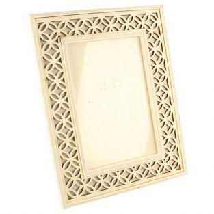 Wooden picture frame 16 x 21 cm - openwork outline