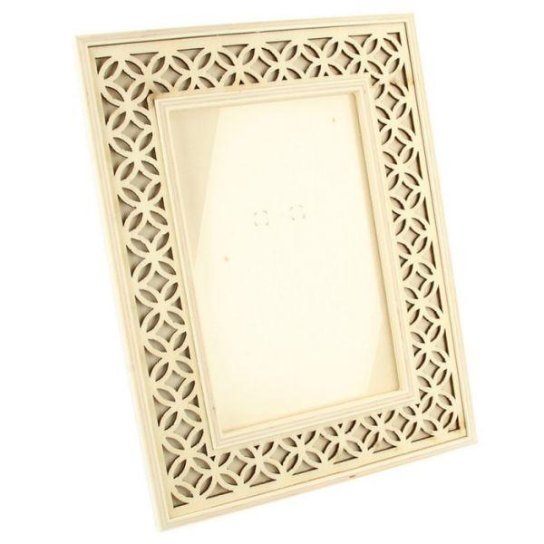 Wooden Picture Frame 16 X 21 Cm Openwork Outline
