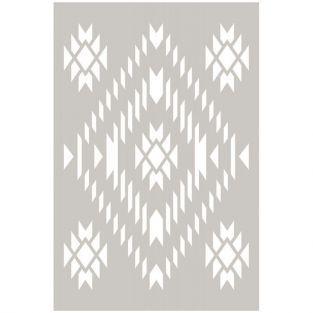 Navajo plastic stencil - 10 x 15 cm