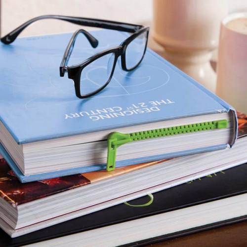 Zip Bookmark - green
