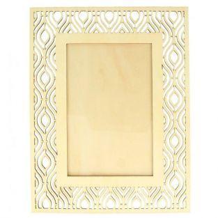 Cadre photo en bois 17 x 22 cm - Contour ethnique