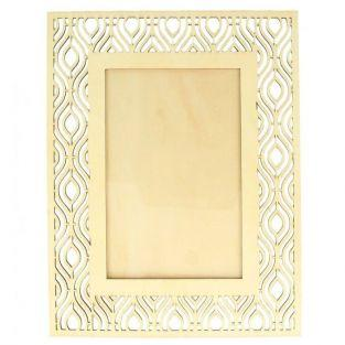 Wooden picture frame 17 x 22 cm - Ethnic outline
