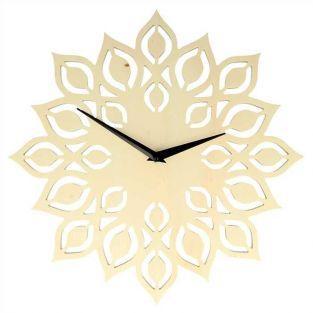 Horloge en bois fleur Ø 30 cm