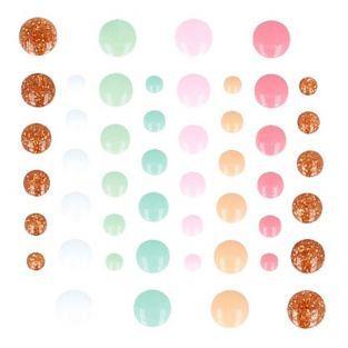 64 gouttes en émail - Multicolore